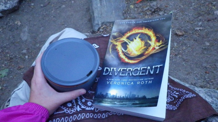 Peach tea and a good book...talk about relaxing.
