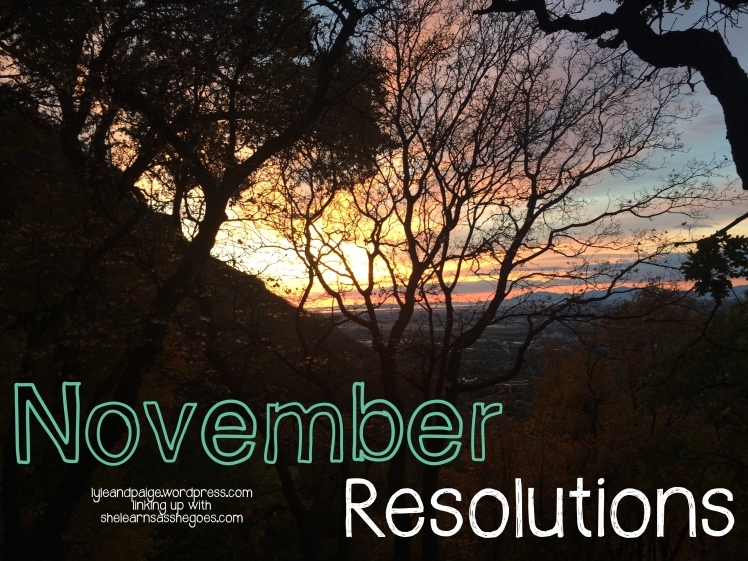 November Resolutions